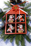 Red christmas decoration Stock Image