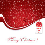Red Christmas decoration background Stock Photo