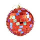 Red christmas decoration ball isolated Royalty Free Stock Photos