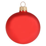 Red christmas decoration ball isolated on white Royalty Free Stock Images