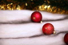 Red christmas decoration balls Royalty Free Stock Photos