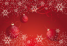Red Christmas decoration with bauble Royalty Free Stock Images