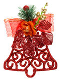 Red Christmas decoration bell Royalty Free Stock Images