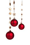 Red Christmas decoration with golden stars Stock Image