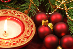 Red Christmas decoration - macro Royalty Free Stock Photo
