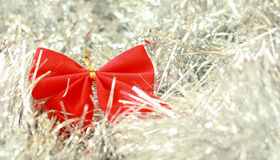 Red christmas decoration ribbon Royalty Free Stock Photos