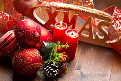 Red christmas decoration Royalty Free Stock Photo