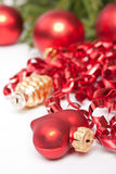 Red Christmas decorations Stock Image