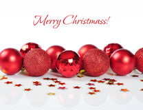 Red christmas decorations Royalty Free Stock Photos