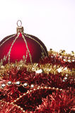 Red christmas decorations. Christmas decorations in a red colors Royalty Free Stock Images