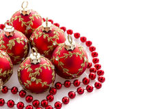 Red Christmas decorations Stock Images