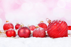 Red Christmas decorations Royalty Free Stock Images