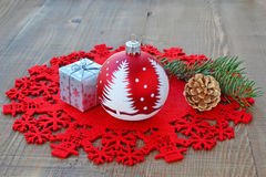 Red Christmas decorations Royalty Free Stock Photo
