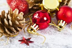 Closeup on Chrismas decorations Royalty Free Stock Photography
