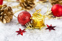 Closeup on Chrismas decorations Royalty Free Stock Image