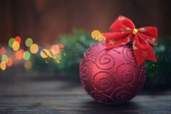 Red christmas decorative ball Royalty Free Stock Image