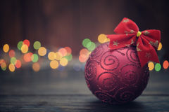 Red christmas decorative ball Stock Photo