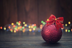 Red christmas decorative ball Royalty Free Stock Photography