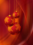 Red christmas design Stock Images