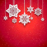 Red Christmas design Royalty Free Stock Images