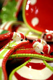 Red christmas dish Stock Photography