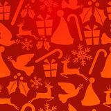 Red Christmas elements pattern Royalty Free Stock Photography