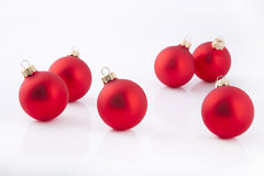 Red Christmas Evening Balls Stock Photography