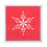 Red Christmas or festive paper napkins aka serviettes, isolated Royalty Free Stock Photos