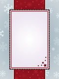 Red christmas frame Stock Image