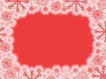 Red christmas frame Royalty Free Stock Photos