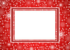 Red Christmas Frame Stock Photo