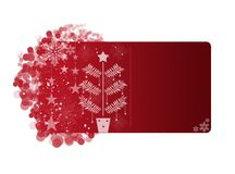 Red Christmas frame Royalty Free Stock Photography