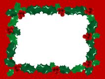 Red christmas frame Stock Photography