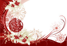 Red christmas frame background Stock Images