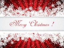 Red Christmas frame Stock Image