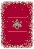 Red Christmas frame with snowflakes Royalty Free Stock Photography