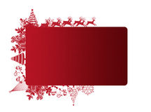Red Christmas frame with text area. On white background Stock Photo
