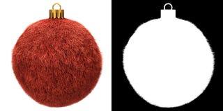 Red Christmas Fur Ball royalty free illustration