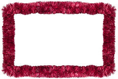 Red Christmas garland Stock Photo