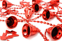 Red Christmas garland Stock Photography