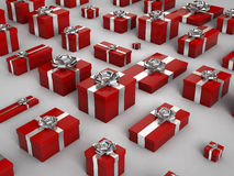 Red Christmas Gif Box Royalty Free Stock Photos