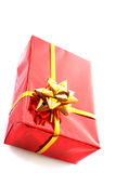 Red christmas gift Royalty Free Stock Images