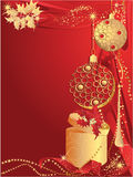 Red christmas with gift Stock Photo