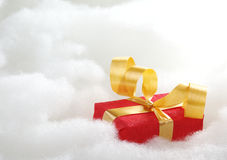 Red Christmas Gift Royalty Free Stock Photos