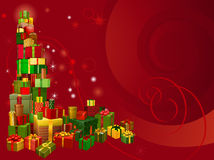 Red Christmas gift background Stock Image