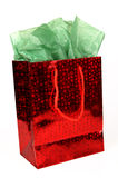 Red Christmas Gift Bag Stock Photos