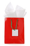Red Christmas gift bag Royalty Free Stock Images