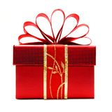 Red Christmas gift box Royalty Free Stock Photo