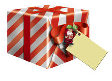Red Christmas Gift Box & Card Stock Photography