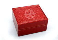 Red Christmas Gift box isolated on white Stock Image